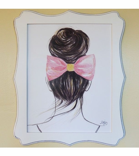 Top Knot Art Print