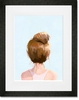 Top Knot Framed Art Print