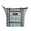 Tote Diaper Bag in Blue Plaid