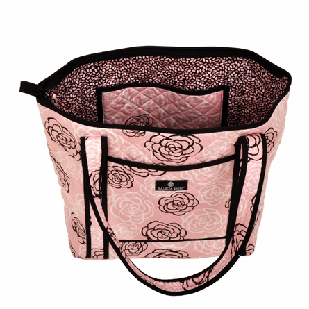 Tote Diaper Bag in Pink Camellia