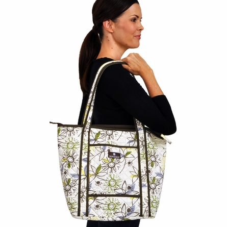 Tote Diaper Bag in Retro Flower