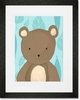 TR the Bear Blue Framed Art Print