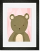 TR the Bear Pink Framed Art Print