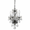 Traditional Crystal Four Light Bronze Mini Chandelier