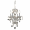 Traditional Crystal Four Light White Mini Chandelier