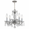 Traditional Crystal Three Light Clear Crystal Chrome Mini Chandelier I