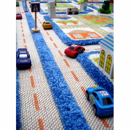 Traffic Blue Play Carpet