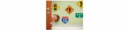 Traffic Signs Set 1 Peel and Stick Wall Mural
