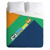 Train Orange Luxe Duvet Cover