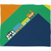 Train Orange Fleece Throw Blanket