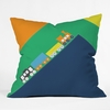 Train Orange Throw Pillow