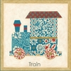 Train Patchwork Transportation Canvas Reproduction