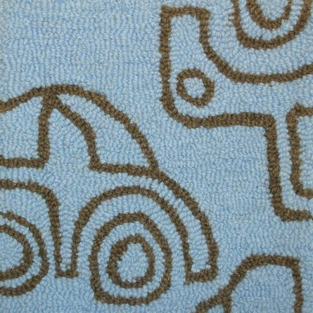 Transport Round Rug in Sable and Ozone Blue