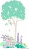 Tree & Basket Paint by Number Wall Mural