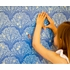 Tree Light Removable Wallpaper in Blue