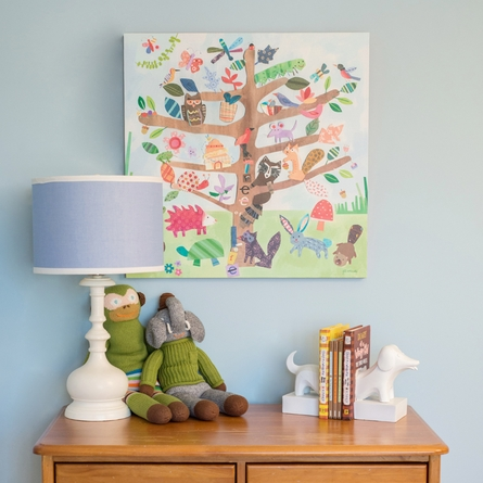 Tree of Life - Critters Canvas Wall Art