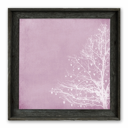 Tree of Love Raspberry Framed Canvas Wall Art
