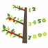 Tree of Wisdom Numbers Fabric Wall Decals