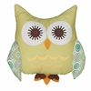 Tree Owl Green Character Pillow