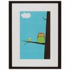 Tree Top Owls II Framed Art