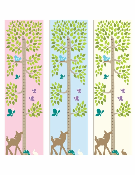 Tree with Animals Personalized Growth Chart