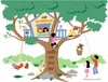 Treetop Clubhouse Paint by Number Wall Mural