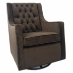 Tres Chic Glider in Chocolate Bella Velvet
