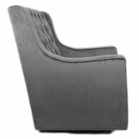 Tres Chic Glider in Grey Velvet