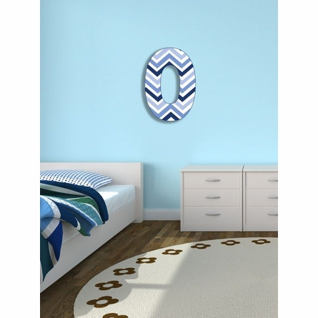 Tri-Blue Chevron Wall Letter