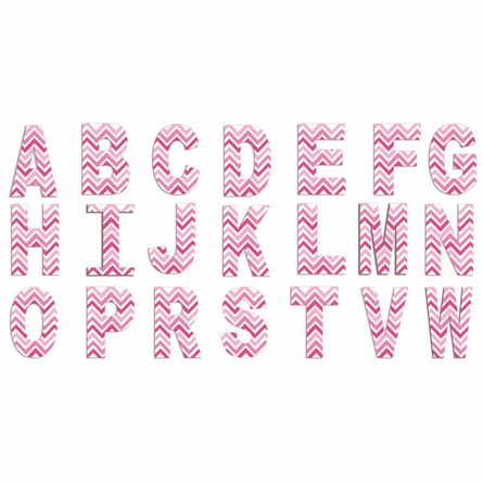 Tri-Pink Chevron Wall Letter