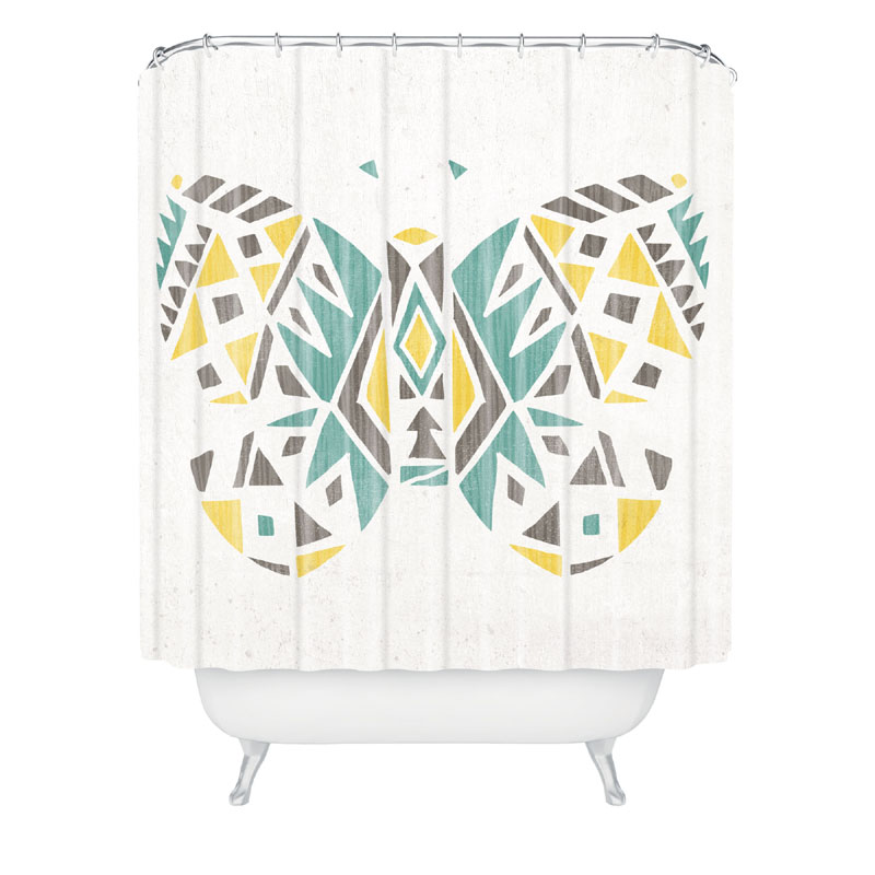 bath time shower curtains for kids tribal butterfly shower curtain