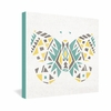 Tribal Butterfly Wrapped Canvas Art