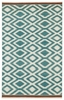 Tribal Diamonds Nomad Rug in Turquoise