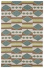 Tribal Shapes Rug in Turquoise