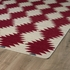 Tribal Stars Nomad Rug in Red