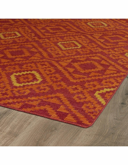 Tribal Suzani Nomad Rug in Red