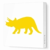 Triceratops Silhouette Canvas Wall Art