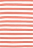 Trimaran Stripe Indoor/Outdoor Rug in Coral and White