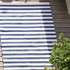 Trimaran Stripe Indoor/Outdoor Rug in Denim and Ivory
