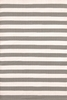 Trimaran Stripe Indoor/Outdoor Rug in Fieldstone and Ivory