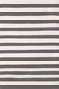 Trimaran Stripe Indoor/Outdoor Rug in Graphite and Ivory