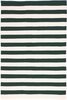 Trimaran Stripe Indoor/Outdoor Rug in Pine and Ivory