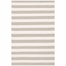 Trimaran Stripe Indoor/Outdoor Rug in Platinum and Ivory