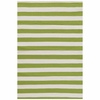 Trimaran Stripe Indoor/Outdoor Rug in Sprout and Ivory