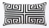 Trina Turk Black Greek Key Embroidered Pillow
