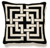 Trina Turk Black Shanghai Links Needle Point Pillow