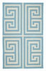 Trina Turk Blue Greek Key Hook Rug