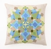Trina Turk Blue & Green Kaleidoscope Pillow