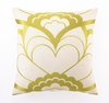 Trina Turk Deco Floral Embroidered Citron Pillow
