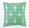 On Sale Trina Turk Geo Links Embroidered Blue & Green Pillow